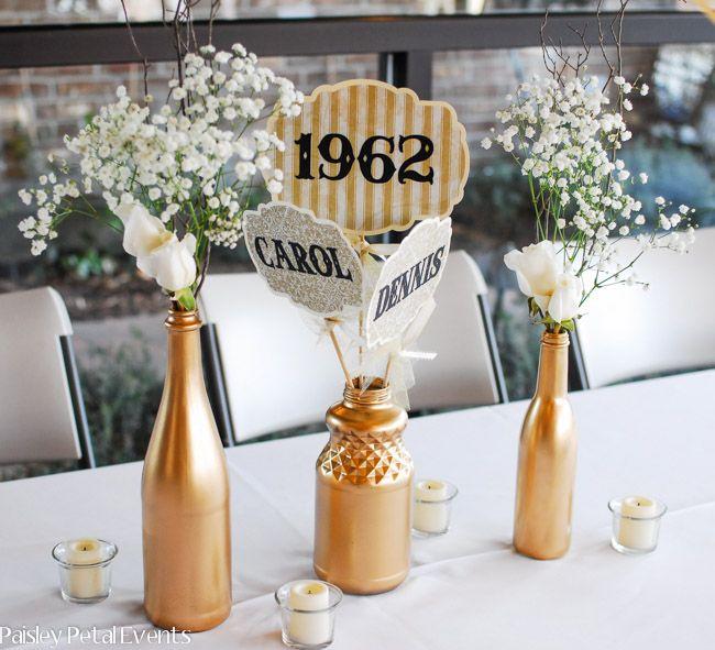 50th Wedding Anniversary Centerpiece Ideas Fiftyyears