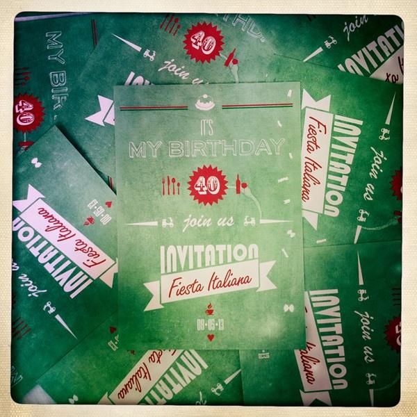 "Invitation Postcards ""Fiesta Italiana"""