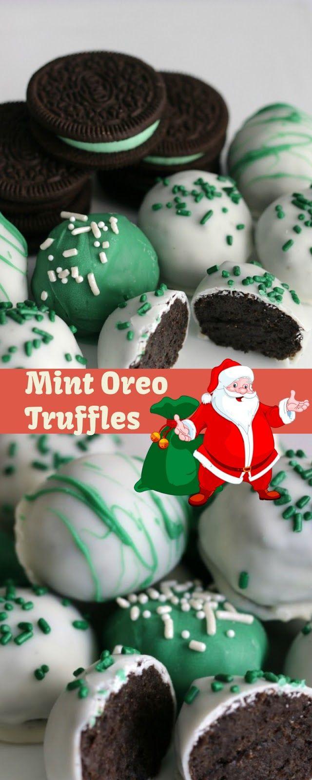 Christmas Desserts Pinterest.Mint Oreo Truffles Christmas Dessert Mariana Kitchen
