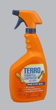 Terro Termite and Carpenter Ready to Use Ant Control  Quart  T1100 by Terro. $12.92. Kills carpenter ants and termites on contact. Ready-to-use trigger spray bottle. Long-lasting residual control up to four months. Can be used indoors or outdoors. Amazon.com                  Kill destructive carpenter ants and termites with Terro Carpenter Ant & Termite Killer.  Contact kill gives you immediate results when spraying insects directly, while residual activity kills insects when th...
