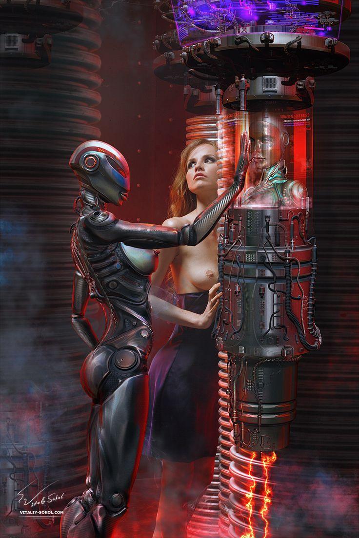 Awkward Naked Cyborg By Happy