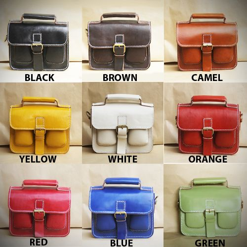 All leather 257-S satchel & still going on develop new colors