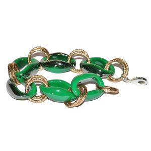 Bracciale resina verde oro by Valery Design Bijoux