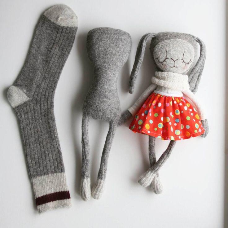 The evolving sock #sockdoll #sockbunny #sculptedso…