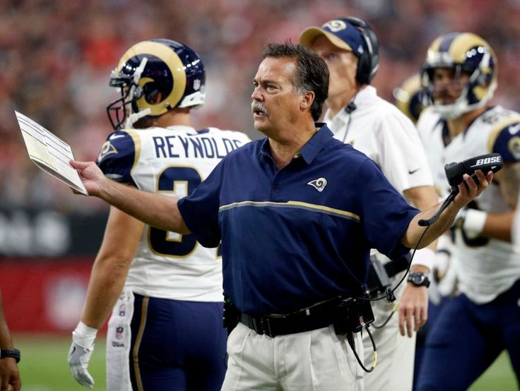 Rams vs. Cardinals Updated October 2, 2016:  17-13, Rams  -    Los Angeles Rams head coach Jeff Fisher reacts during the first half of an NFL football game against the Arizona Cardinals, Sunday, Oct. 2, 2016, in Glendale, Ariz.