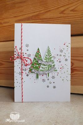 Magical Scrapworld: Stampin' Up!, Christmas card, festival of trees