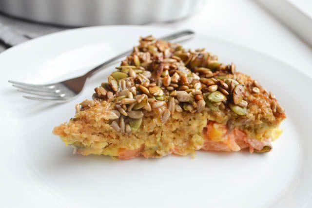 Gebakken Havermout met Nectarine en Zadencrunch