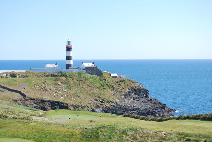 The Lighthouse overlooking the 17th hole at Old Head in Kinsale.