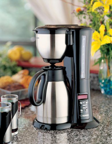 Automatic Stylish Stainless-steel Zojirushi EC-BD15 Fresh Brew Thermal Carafe Coffee Maker -1.5-liter Stylish automatic coffee brewer with 1.5-liter thermal carafe. Stainless-steel carafe keeps coffee hot for hours. 1025 watts; electronic clock/timer with preset function; auto shut-off for safety. Clever brew-and-serve lid design; easy-to-read water gauge. Measures 15 by 12 by 9 inches; 1-year war... #Zojirushi #Kitchen