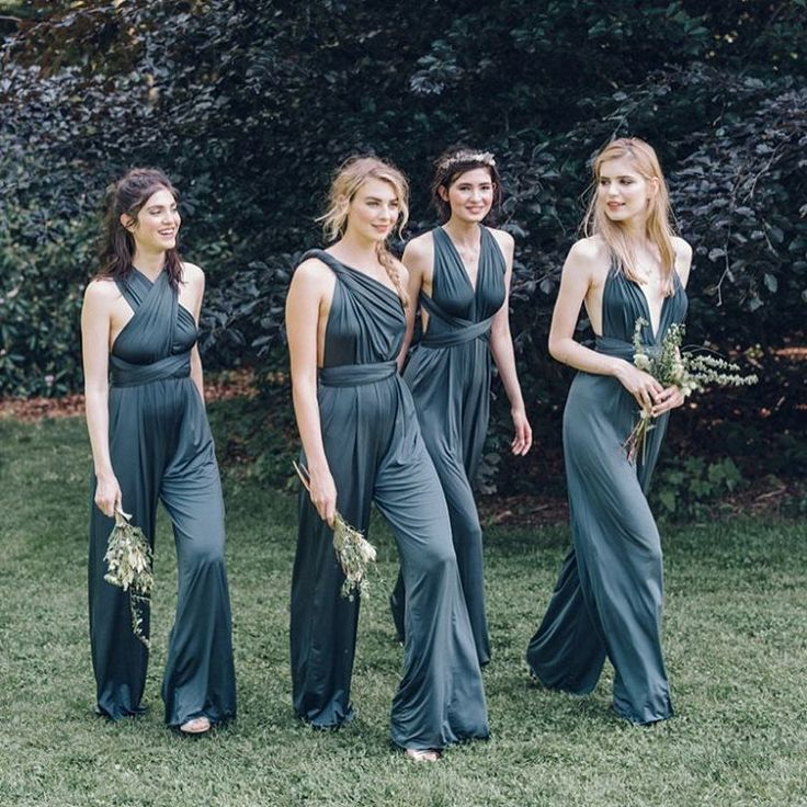 Bridesmaid jumpsuits.  photo by @loversland • 1,413 likes