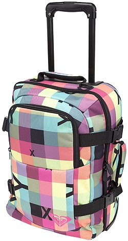 Totally Funky - Roxy Wheely Cabin Luggage - Neon Check