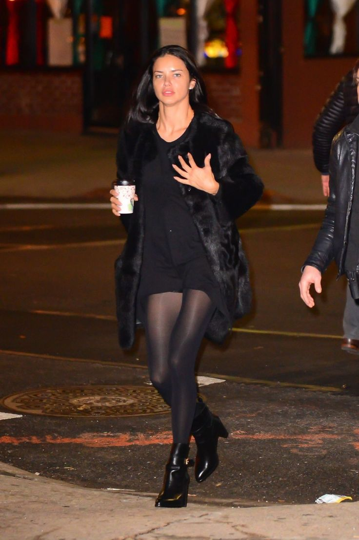 Fashion look from january 2016 featuring pink opaque tights round - Black Pantyhose Adriana Lima Tights Celebs Black