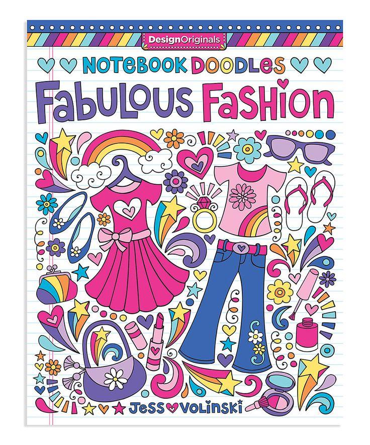 Amazing Publishing A Coloring Book 13 Notebook Doodles Fabulous Fashion