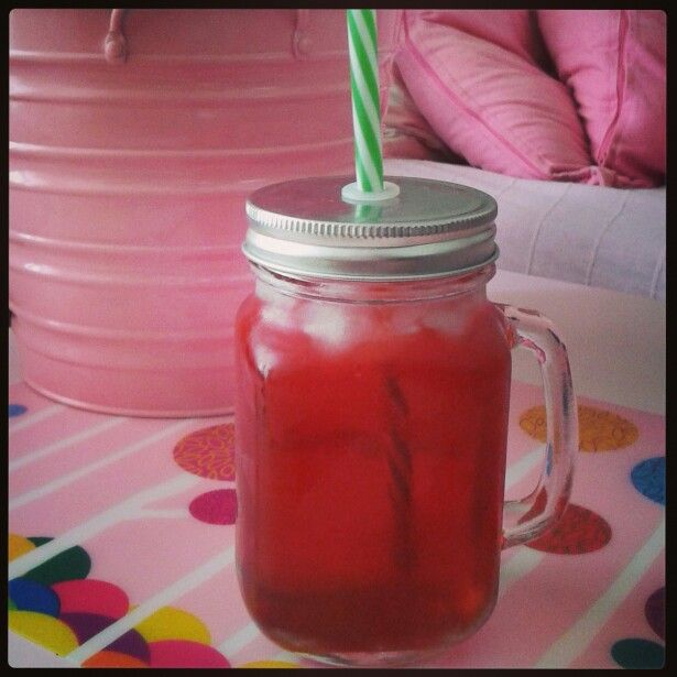Homemade sour cherry drink