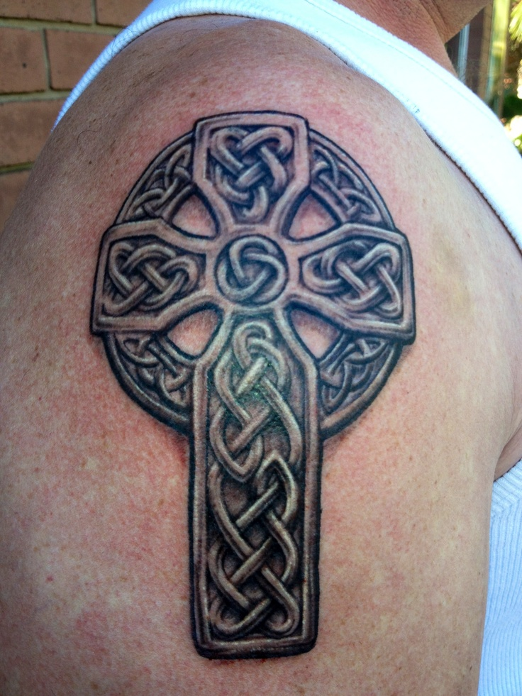 #Celtic Cross #Tattoo by #NathanBurtonPhillips @ #leestattoostudio