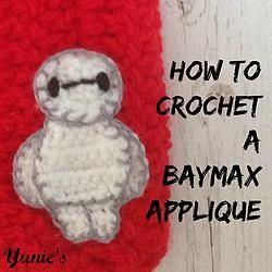 Free Tutorial: Baymax Crochet applique #Crochet