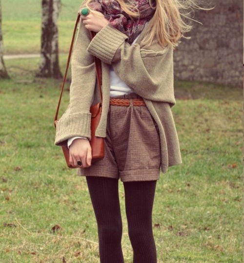 great way to wear short when it's cold #shorts #cold #fashion