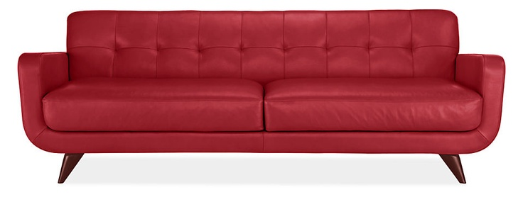 Anson Leather Sofa from Room and Board. Elmo Soft Red.