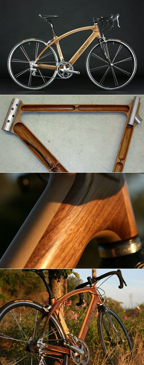 Renovo Hardwood Bicycles' R4 Pursuitsare made from two CNC'd halves of wood bonded together lengthwise, creating a beautiful piece of work. The bike, made from a Renovo's shop in Portland, fuses t...