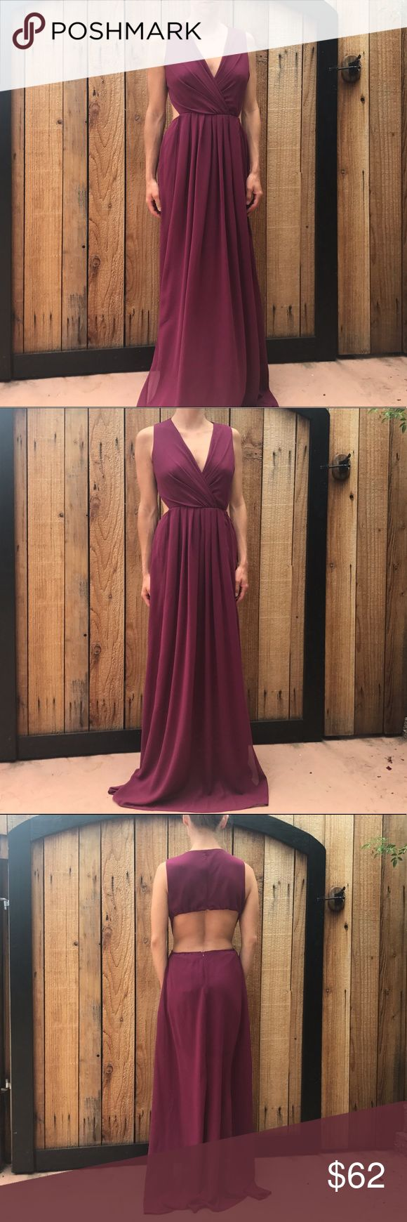 Hot Miami Styles Full Length Dress🎉30% OFF BUNDLE Hot Miami Style Dress, new with tags. Zips up the back/ open back. Bundle and save. No trades  Burgundy ish color  #hotmiamistyle #formal #dress Hot Miami Styles Dresses Wedding