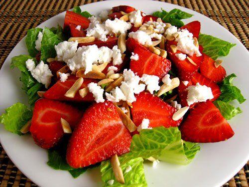 Strawberry and Feta Salad #glutenfree #antiinflammatory #vegetarian