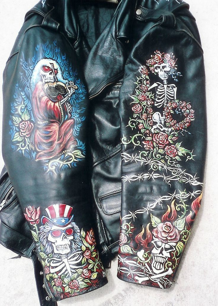 Painting leather jackets