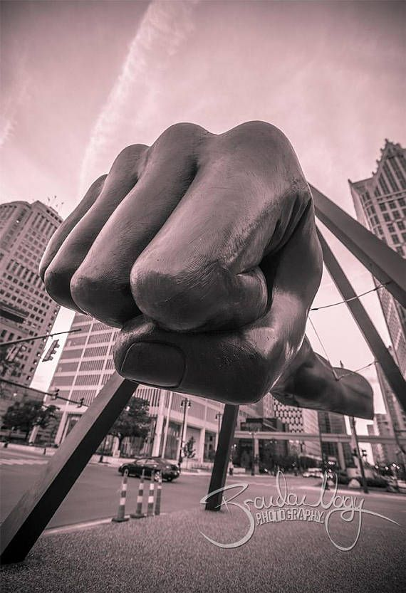 Joe Louis Fist in Downtown Detroit Photo Fine Art Print