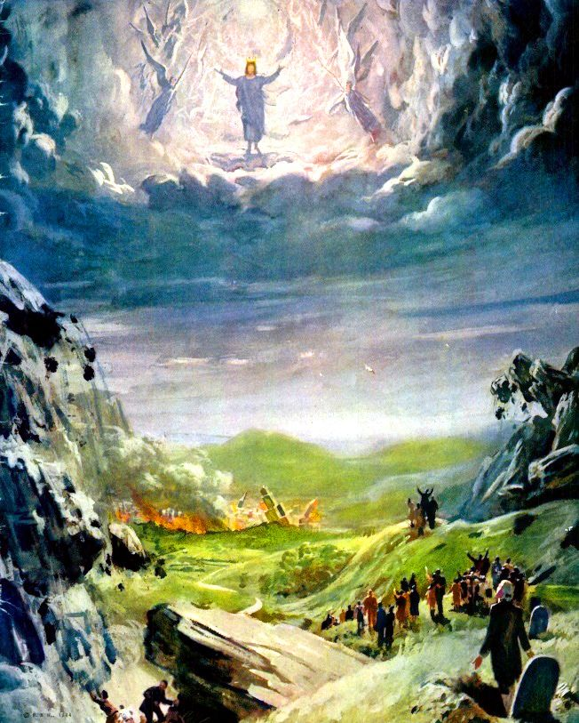 https://flic.kr/p/9V9Kwj | Resurrection | This image of the Resurrection of the Dead in Christ as well as the Rapture of Christians is amusing, but it does tell the story. All who love (loved) the Lord will be caught up together with Him.