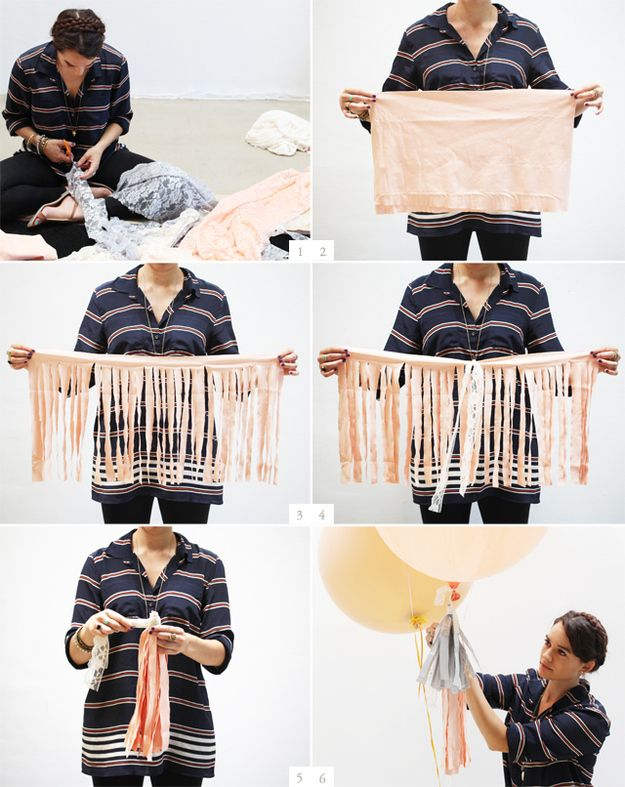 Hang tassels off your balloons. | 51 DIY Ways To Throw The Best New Year's Party Ever