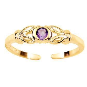 Buy our Australian made Purple Zirconia Toe Ring - BEE-24128-CZAM online. Explore our range of custom made chain jewellery, rings, pendants, earrings and charms.