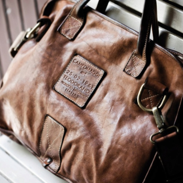 Gorgeous distressed leather bags made by Campomaggi