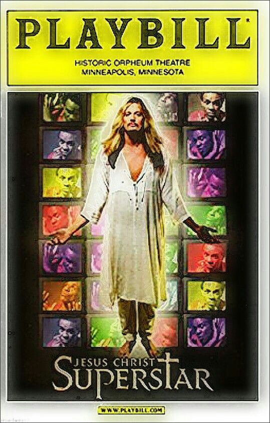 """Minneapolis, Minnesota premiere of the 2000 Broadway Revival of """"Jesus Christ Superstar"""" ... National Tour ... October 19 - 24, 2004 ... Music by Andrew Lloyd Webber ... Lyrics by Tim Rice ... Scenic Design by Peter J. Davison ... Directed by Kevin Moriarity."""
