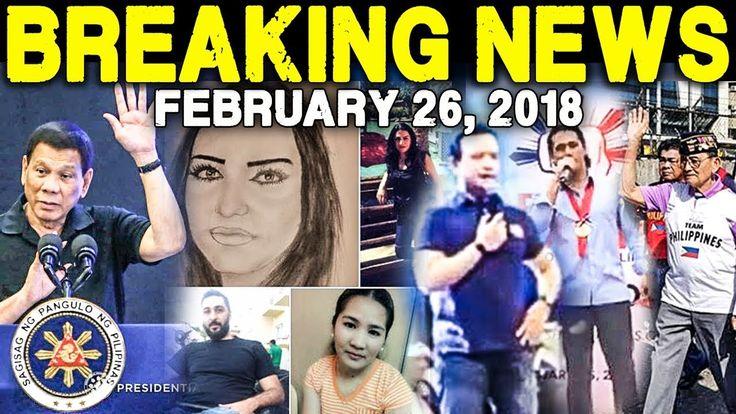 BREAKING NEWS TODAY FEBRUARY 26 2018 DUTERTE l DEMAFELIS l TRILLANES l R...