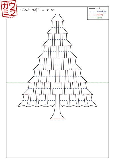 This is the template I have designed to create my Silent Night kirigami sculpture. This is not an assembled piece, rather it provides you with the