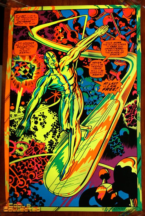 Marvel Third Eye Poster Blacklight Silver Surfer Via Cool Collected