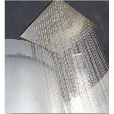 BLVD Products Bondi Square Ceiling Shower Head Finish: Brushed Nickel/Stainless Steel