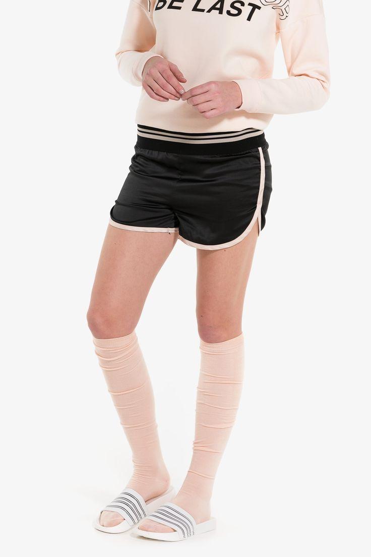 MOVE satin track shorts