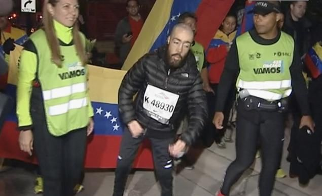 "Maickel Melamed, the last of more than 40,000 finishers, completed the Chicago Marathon in just under 17 hours.  He has muscular dystrophy. At birth he was given a life expectancy of one week.  ""Your life is the most beautiful thing that could happen to you. Make the best with that."""