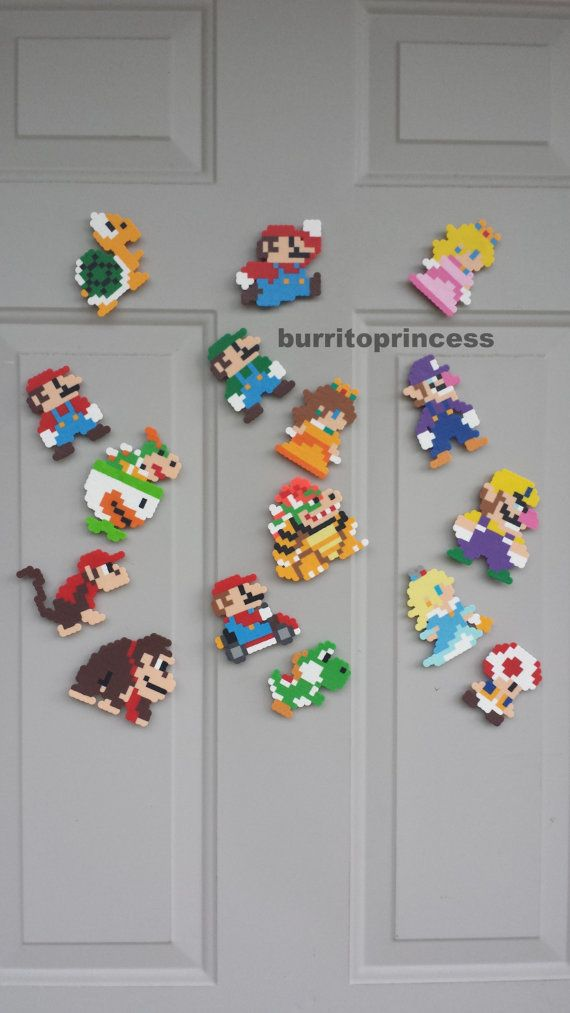 The real challenge is just getting to him, much less with a power up on hand ( in world 8, not likely ). Super Mario Magnets Mario Kitchen Decor Mario Locker Decoration Super Mario Birthday Party Favors Super Mario Wedding Nerdy Decor Perline Fuse Artigianato Perline Iron Beads Decorazione Da Stirare