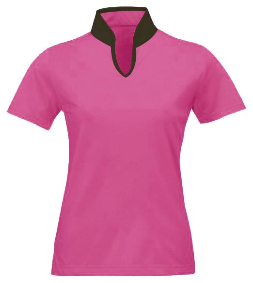 Female Mandarin collar t-shirts for corporates by Crea - India's smartest brand merchandising company.