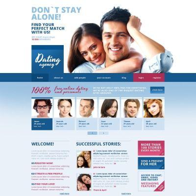 Dating. Reszponzív Weboldal Sablon