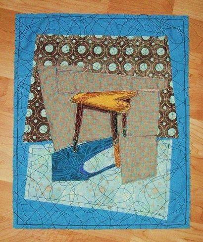 $55 - Boomerang Table Quilted Wall Art - Martha Merry Original.  Follow me on Facebook!  https://www.facebook.com/itsstrange