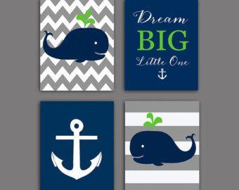 Nursery decor Whale nursery art print by OnlyPrintableArts on Etsy