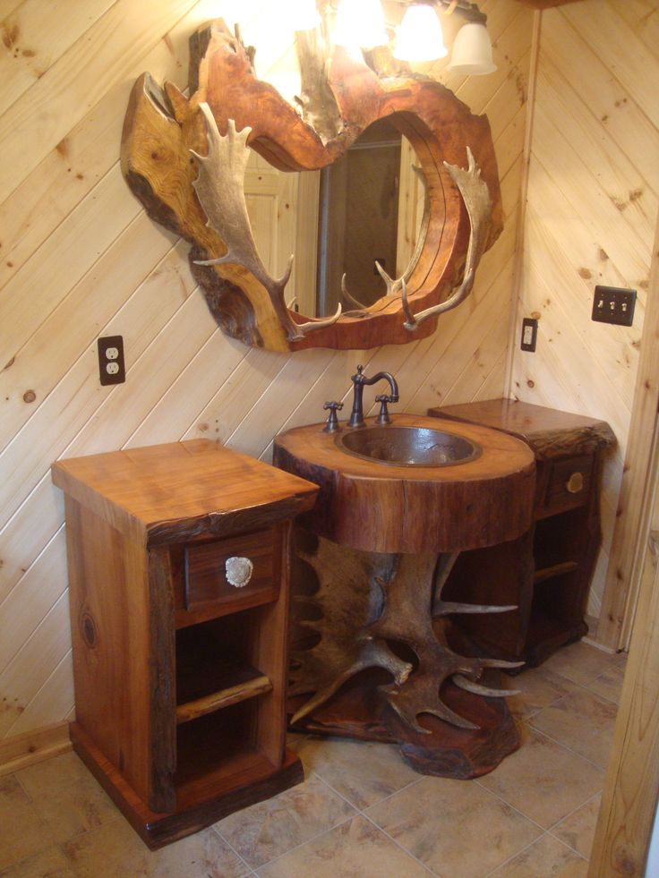 Contemporary Art Websites  Bathroom Sets Design Ideas with Images Moose antlers Pedestal and Antlers