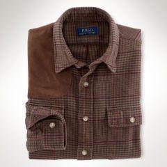 Glen Plaid Flannel Workshirt - Polo Ralph Lauren Sale - RalphLauren.com