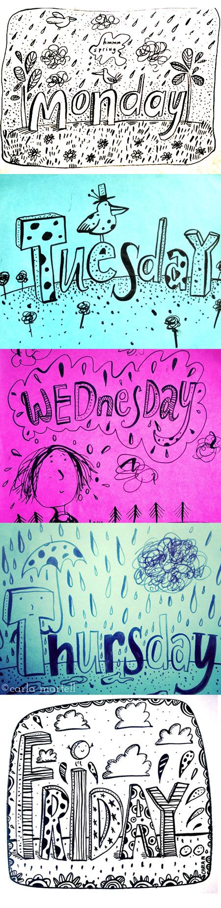 Part of my daily doodle project | Carla Martell