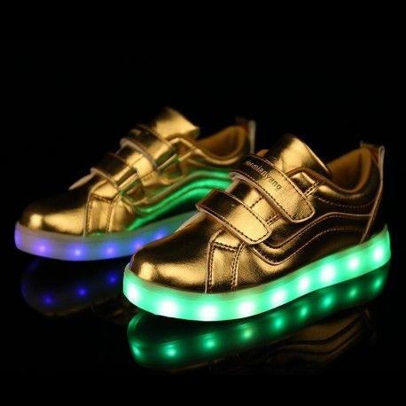 [Presente:peque?a toalla]Dorado EU 41, JUNGLEST? Gold Zapatos plata 7 de LED colores Light Mu
