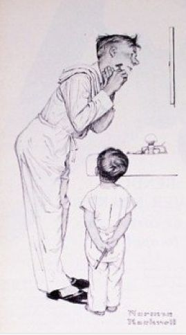 Inspire the men around you  (Norman Rockwell)