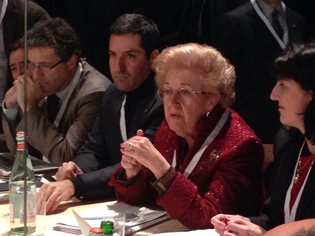 I tavoli di lavoro di #Expoidee dedicate a #Expo2015 #Mlano #alimentazione #futuro #HangarBicocca AnnaMaria Tarantola Presidente della Rai