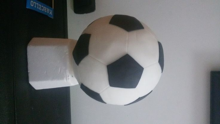 Come realizzare una torta a forma di pallone di calcio. Tutti i calcoli per degli esagoni e pentagoni perfetti. Passo passo. tutorial